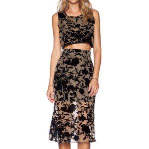 Flynn Skye Tan Waist Cutout Floral Alyse Dress 2